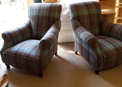 Matching Chair and Footstool